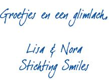 Handtekening Nora en Lisa Stichting Smiles